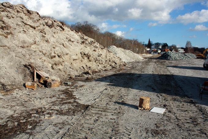 Der zusammengeschobene Abraum mit Pflanzenresten am Strand von Altefähr. - Foto: NABU